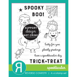 Spooktacular, Reverse Confetti Clear Stamps -