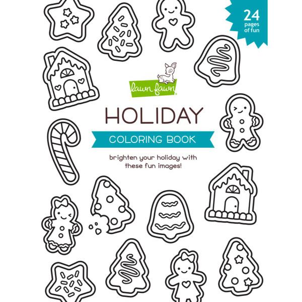 Holiday Coloring Book, Lawn Fawn - 035292676169