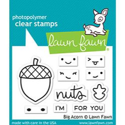 Big Acorn, Lawn Fawn Clear Stamps - 035292676190
