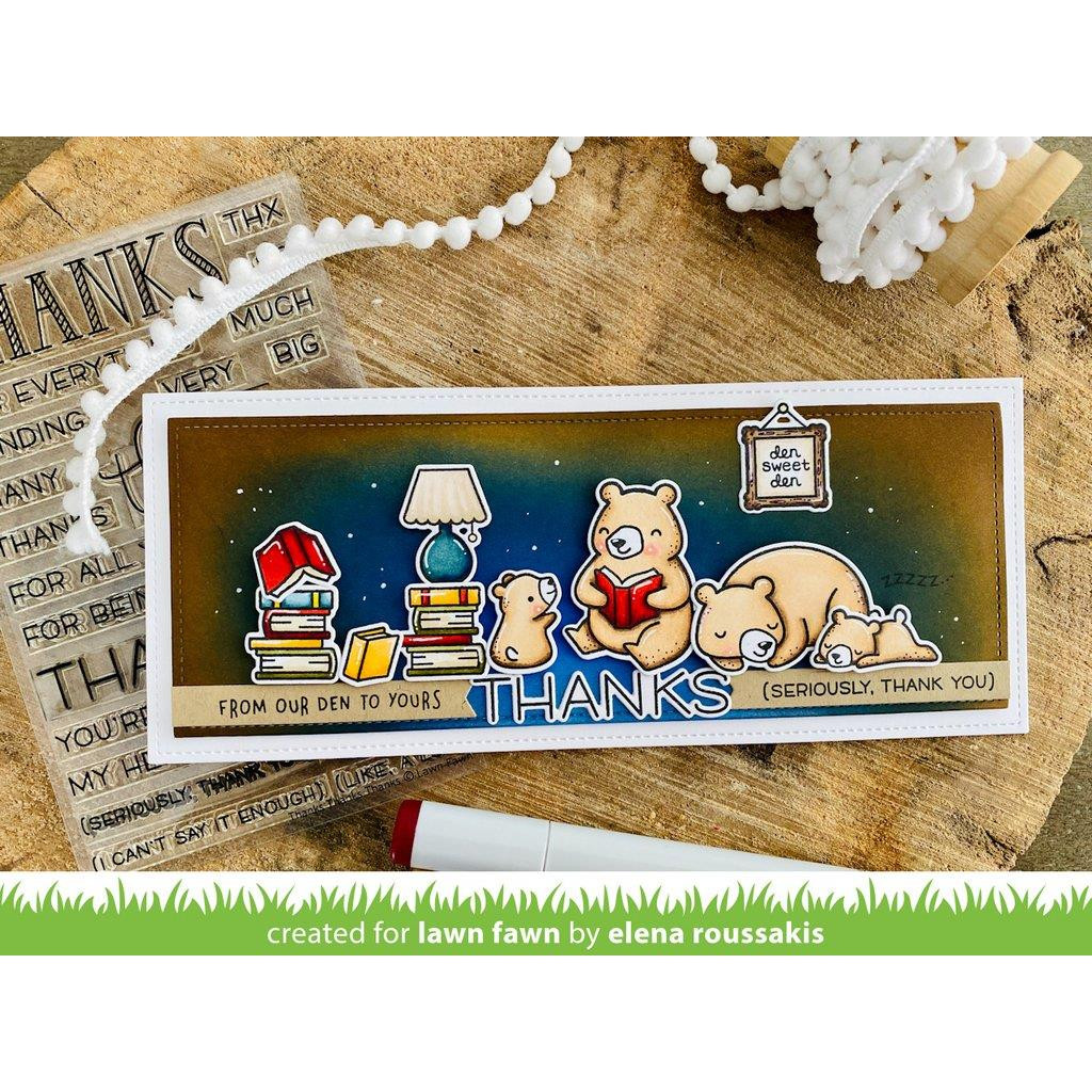Thanks Thanks Thanks, Lawn Fawn Clear Stamps - 035292676213