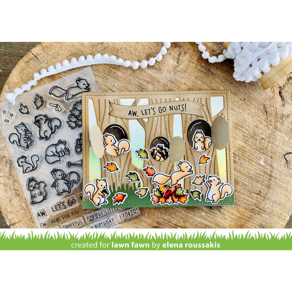 Let's Go Nuts, Lawn Fawn Clear Stamps - 035292676237