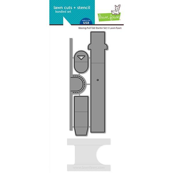 Waving Pull Tab Starter Set, Lawn Cuts Dies - 035292676299