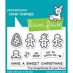 Tiny Gingerbread, Lawn Fawn Clear Stamps - 035292676336