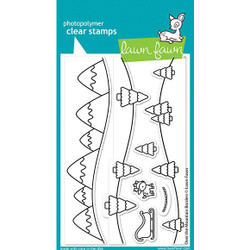 Over the Mountain Borders, Lawn Fawn Clear Stamps - 035292676350