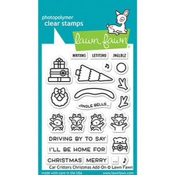 Car Critters Christmas Add-On, Lawn Fawn Clear Stamps - 035292676398