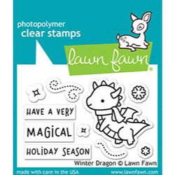 Winter Dragon, Lawn Fawn Clear Stamps - 035292676411