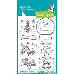 Snow Globe Scenes, Lawn Fawn Clear Stamps - 035292676435