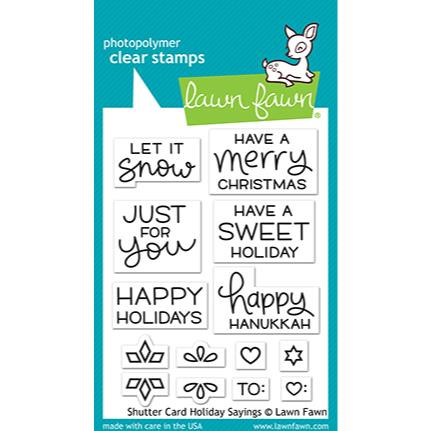 Shutter Card Holiday Sayings, Lawn Fawn Clear Stamps - 035292676466