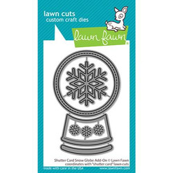 Shutter Card Snow Globe Add-On, Lawn Cuts Dies - 035292676503