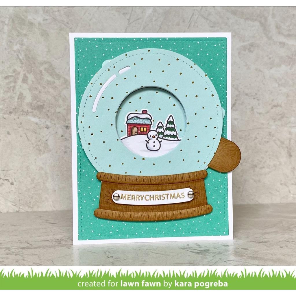Magic Iris Snow Globe Add-On, Lawn Cuts Dies - 035292676510