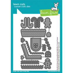 Build-A-House Gingerbread Add-On, Lawn Cuts Dies - 035292676541