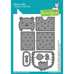 Tiny Gift Box Hedgehog Add-On, Lawn Cuts Dies - 035292676558