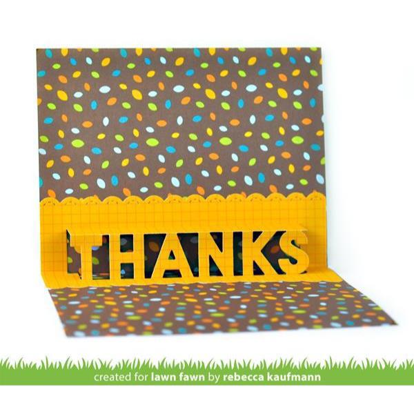 Pop-Up Thanks, Lawn Cuts Dies - 035292676633