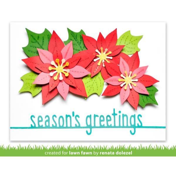 Season's Greetings Line Border, Lawn Cuts Dies - 035292676619