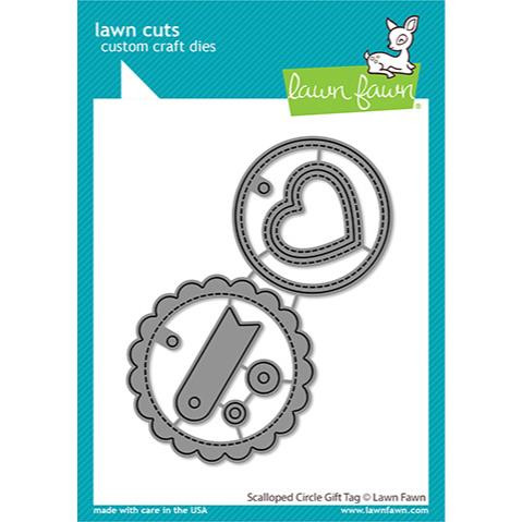 Scalloped Circle Gift Tag, Lawn Cuts Dies - 035292676664
