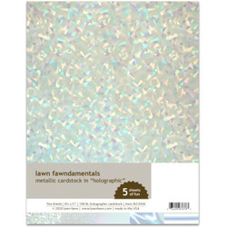 Metallic Cardstock - Holographic, Lawn Fawn Cardstock - 035292676763