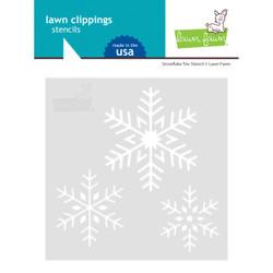 Snowflake Trio, Lawn Fawn Stencils - 035292676770