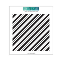 Candy Stripe Background, Concord & 9th Clear Stamps - 717932697887
