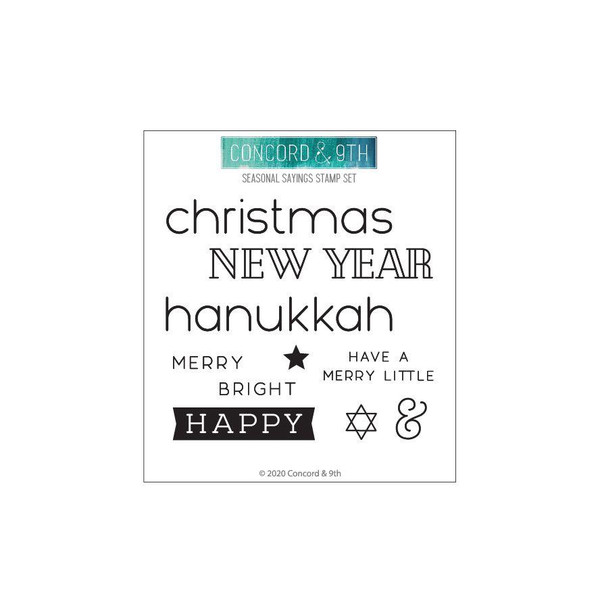 Seasonal Sayings, Concord & 9th Clear Stamps - 717932697993