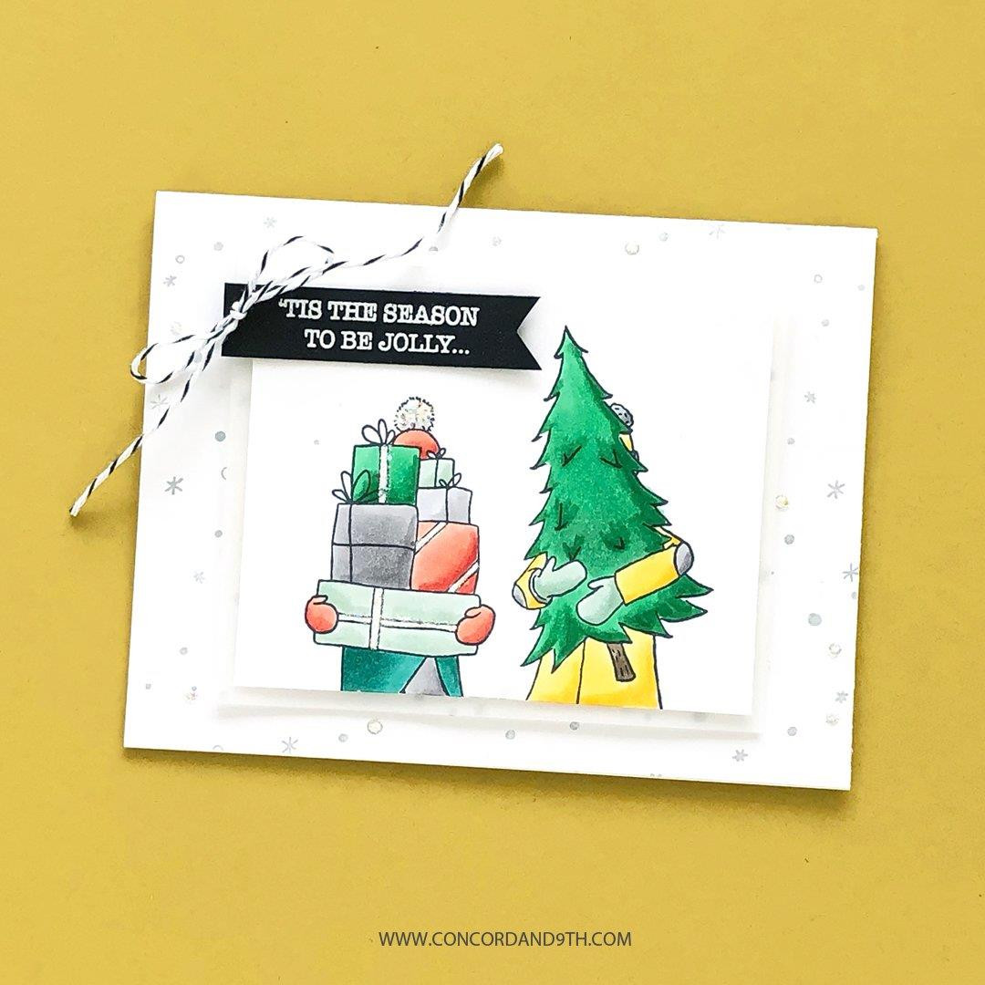 Let It Snow Turnabout, Concord & 9th Clear Stamps - 717932698006