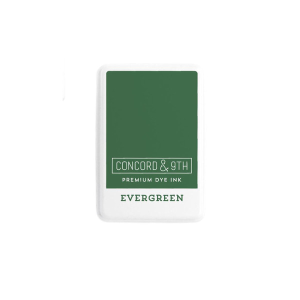 Evergreen, Concord & 9th Premium Dye Ink Pads - 090222402003