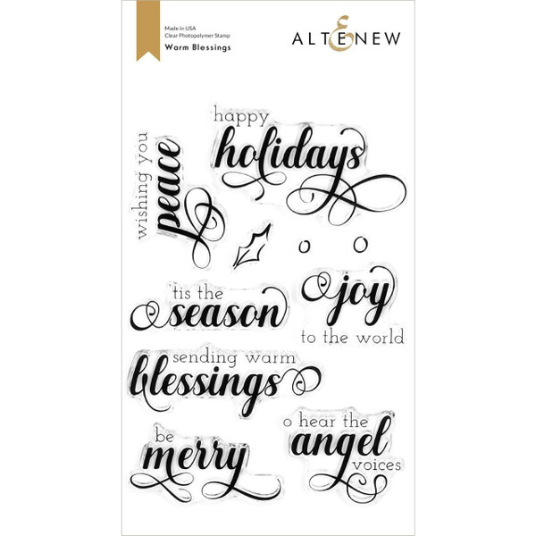 Warm Blessings, Altenew Clear Stamps - 737787269084