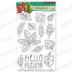Falling Leaves, Penny Black Clear Stamps - 759668307166