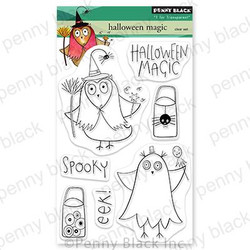 Halloween Magic, Penny Black Clear Stamps - 759668307203