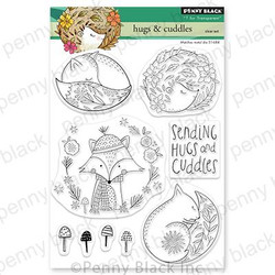 Hugs & Cuddles, Penny Black Clear Stamps - 759668307308