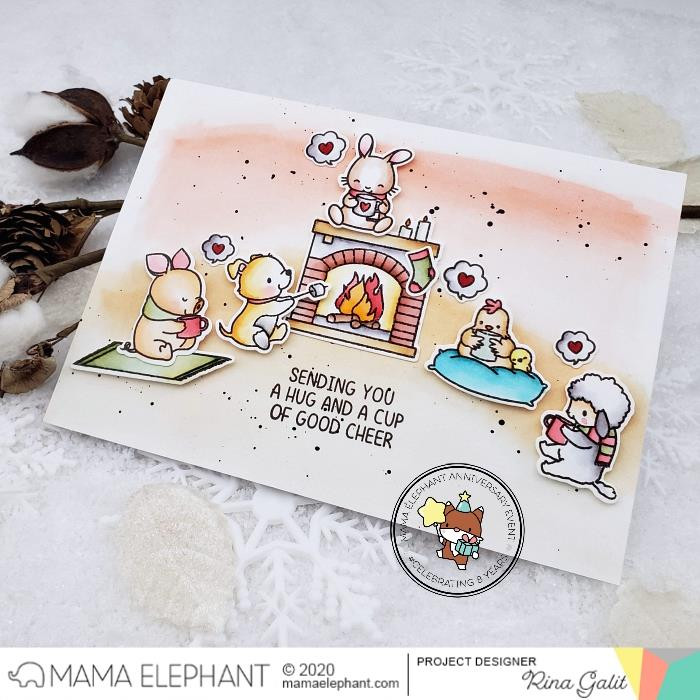 Toasty Friends, Mama Elephant Clear Stamps -