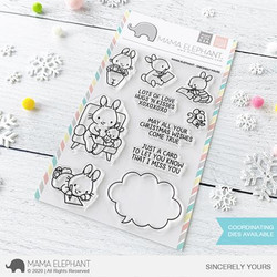 Sincerely Yours, Mama Elephant Clear Stamps -