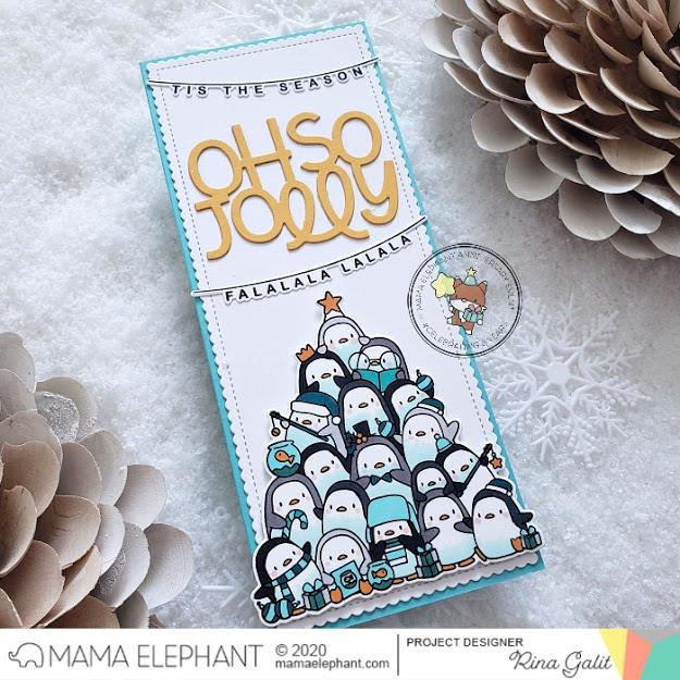Oh Penguin Tree, Mama Elephant Clear Stamps -