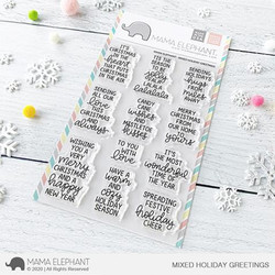 Mixed Holiday Greetings, Mama Elephant Clear Stamps -