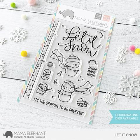 Let It Snow, Mama Elephant Clear Stamps -