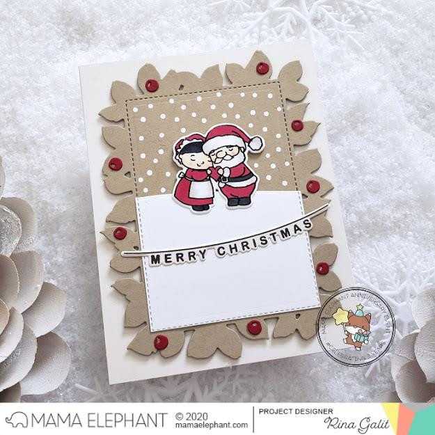 Holiday Word Banners, Mama Elephant Creative Cuts -