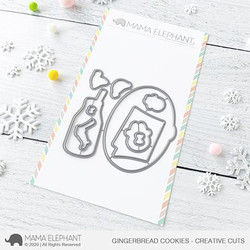 Gingerbread Cookies, Mama Elephant Creative Cuts -