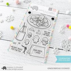 Gingerbread Cookies, Mama Elephant Clear Stamps -