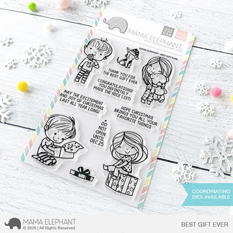 Best Gift Ever, Mama Elephant Clear Stamps -