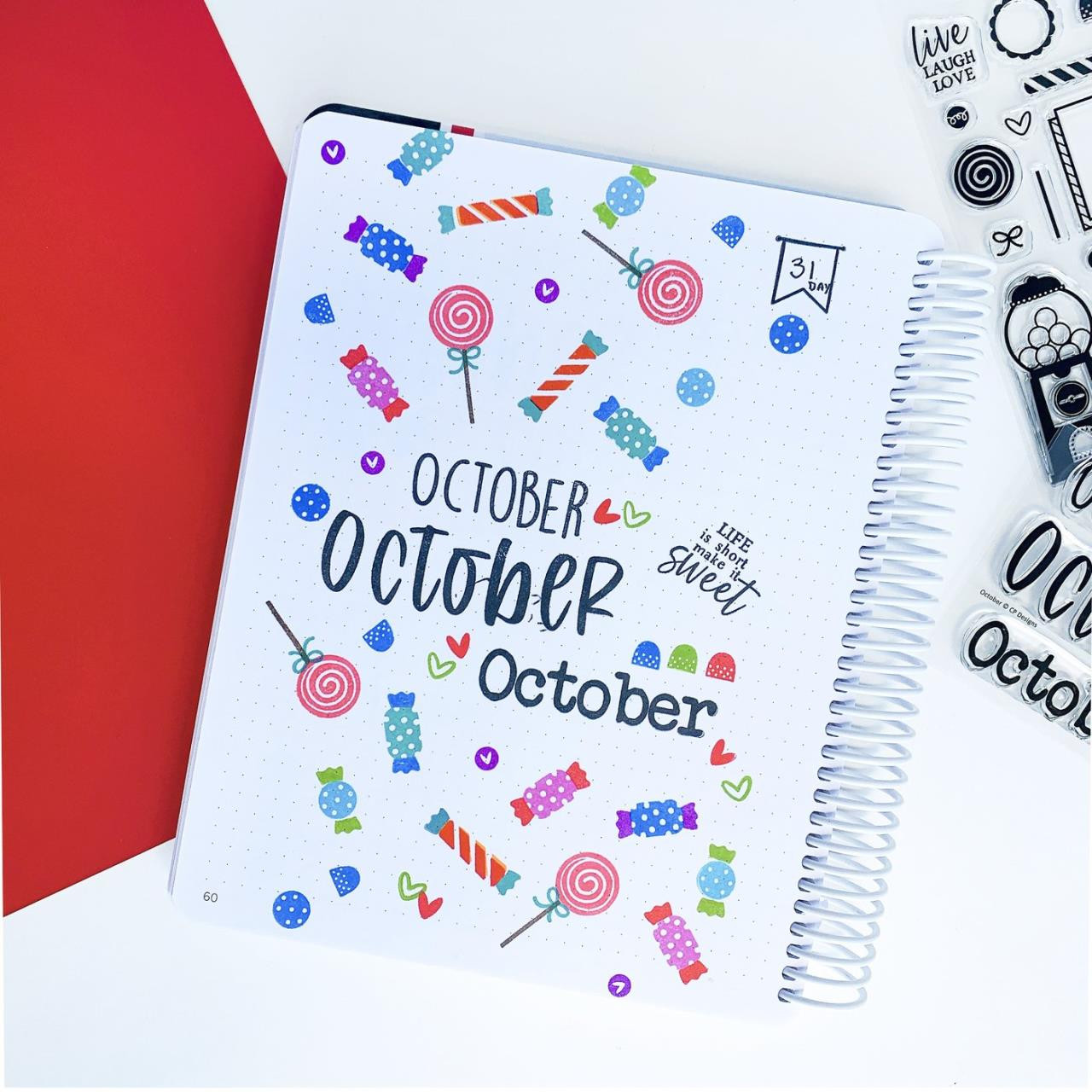 October, Catherine Pooler Clear Stamps - 746604164730