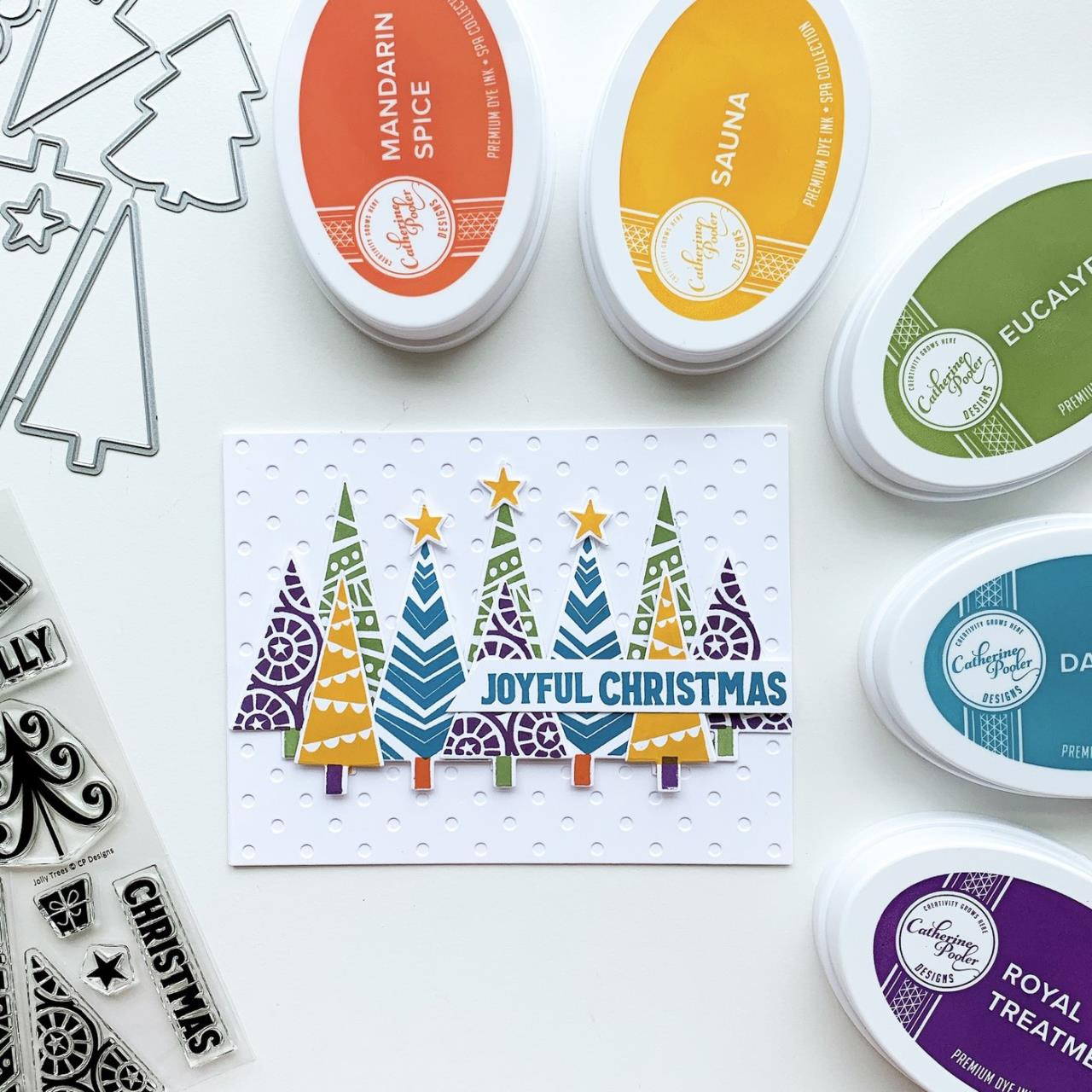 Jolly Trees, Catherine Pooler Clear Stamps - 819447028429