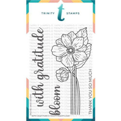 With Gratitude, Trinity Stamps Clear Stamps -