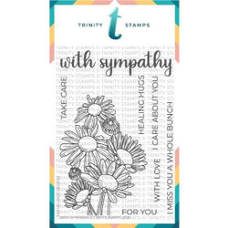 With Sympathy, Trinity Stamps Clear Stamps -