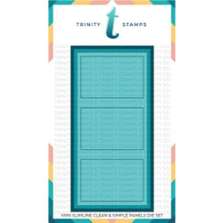 Clean and Simple Mini Slimline Panels, Trinity Stamps Dies -