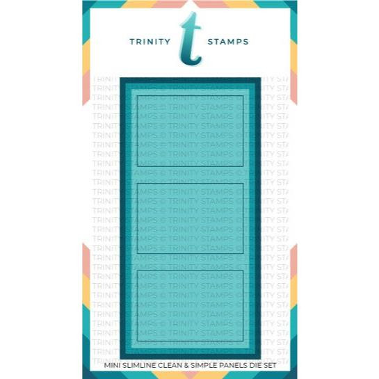 Clean and Simple Mini Slimline Panels, Trinity Stamps Dies -