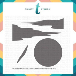 October Night Sky, Trinity Stamps Stencils -