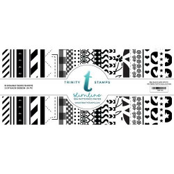 Slimline Series: Black & White Basics, Trinity Stamps Patterned Paper -