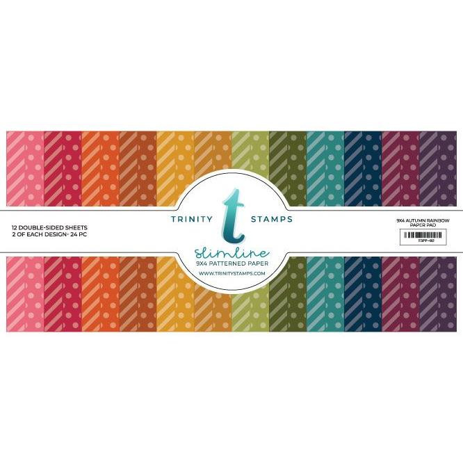 Slimline Series: Autumn Rainbow, Trinity Stamps Patterned Paper -