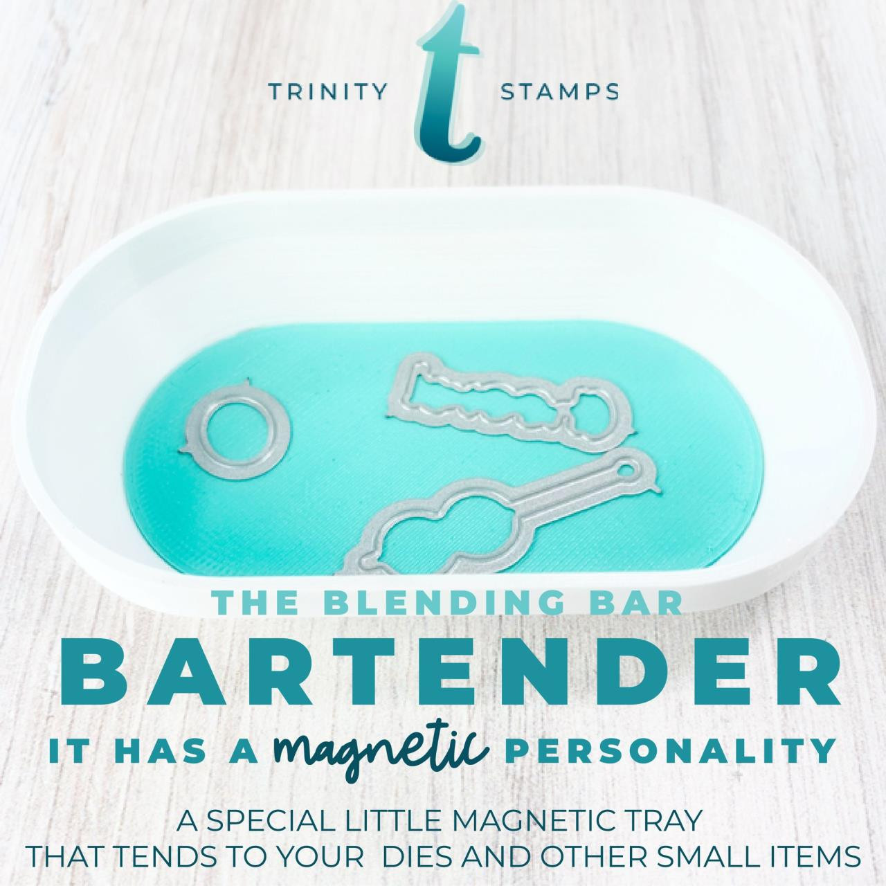 Bartender Magnetic Tray, Trinity Stamps -