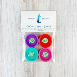 Blending Bar 4pc Magnetic Color Caps - Set 3, Trinity Stamps -