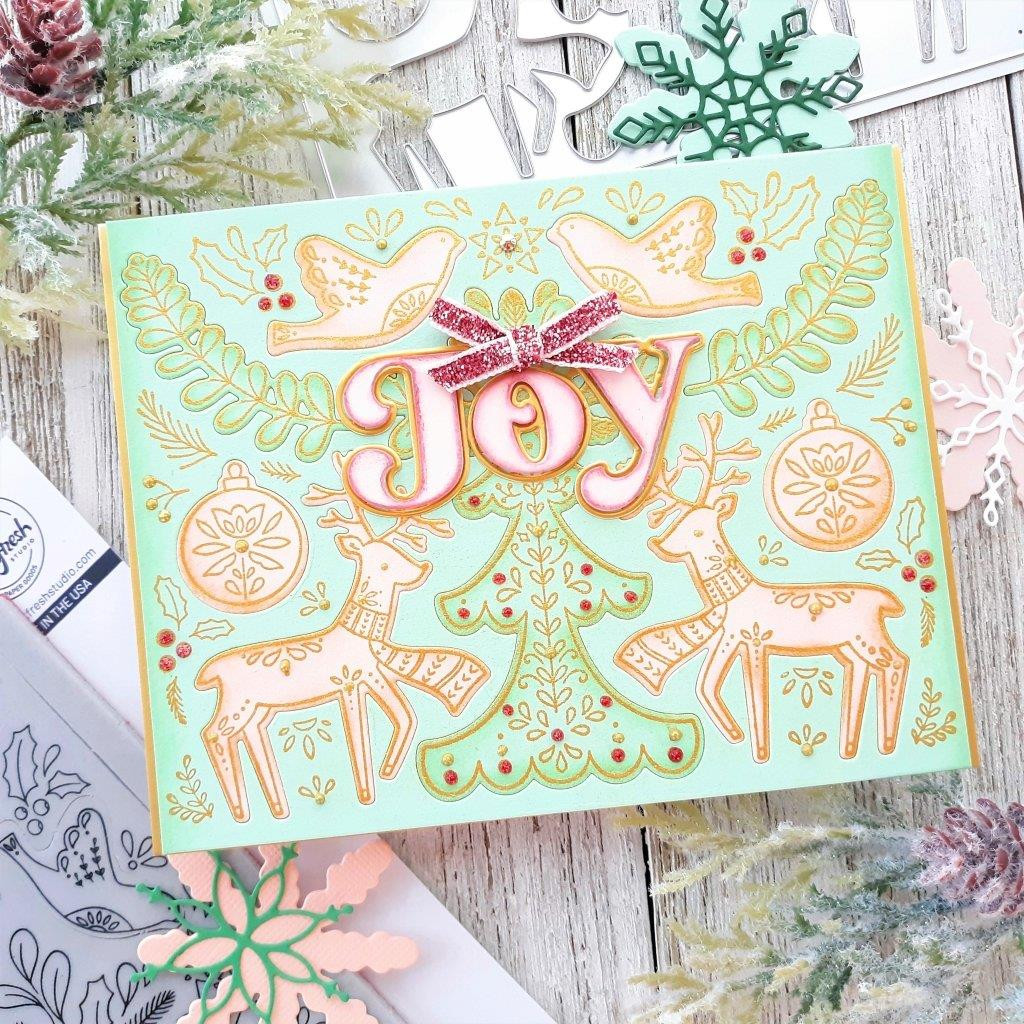 Pop Out Folk Christmas, Pinkfresh Studio Cling Stamps - 736952868398